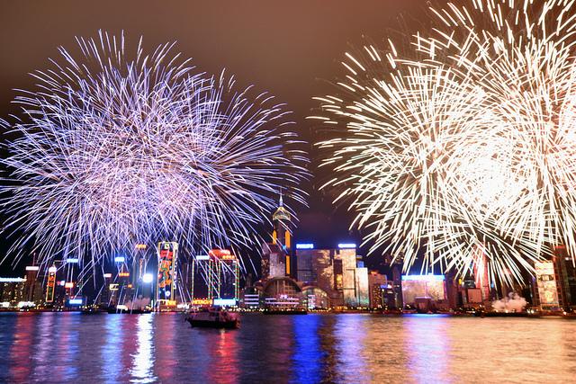 Hong Kong NYE Fireworks